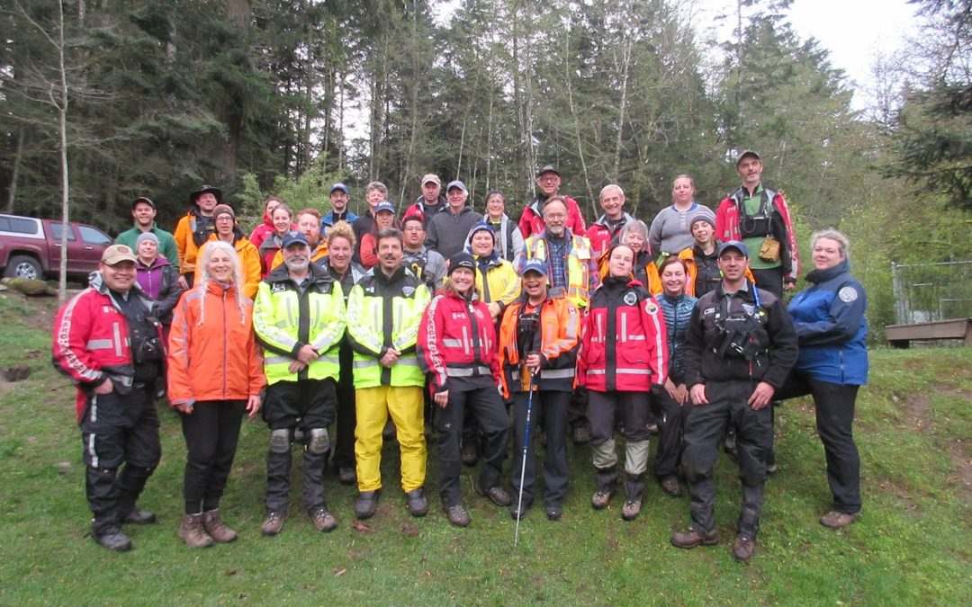 Tracking course on Salt Spring Island
