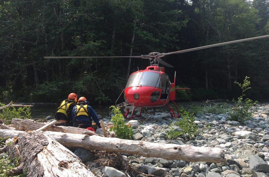 Rescue at Della Falls